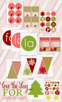 Fashion Free Printable Christmas Mini Kit.