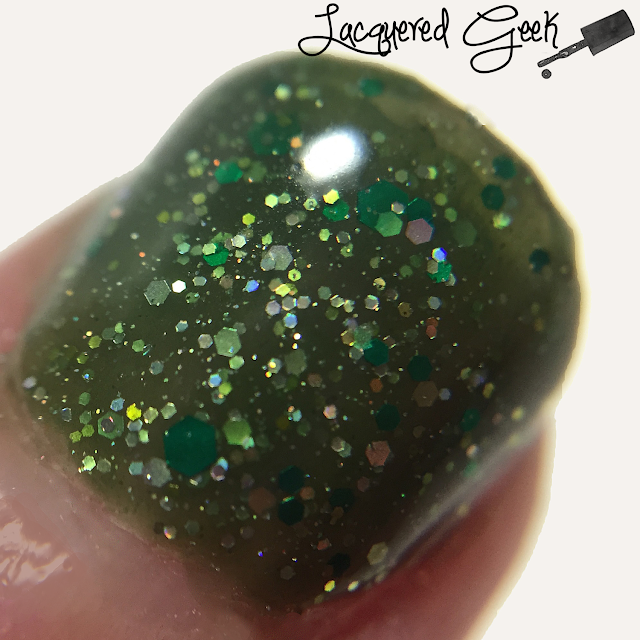 Nerd Lacquer Quasar nail polish swatch macro by Lacquered Geek
