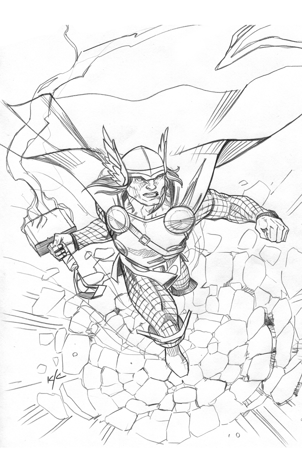 Coloriage thor 3 - Coloriage thor ...