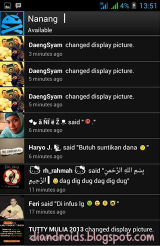 blackberry messenger themes for android