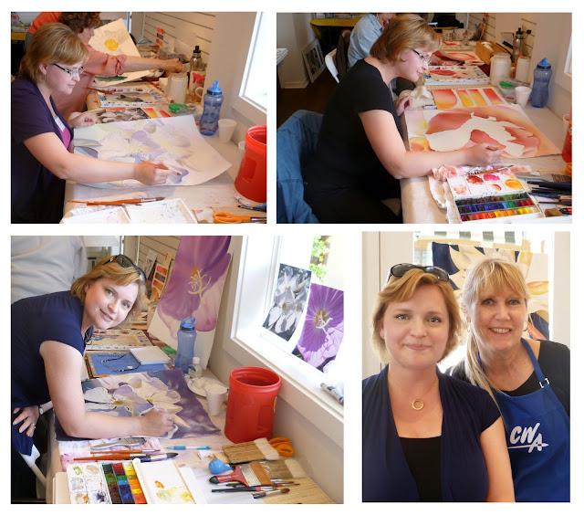 Painting with Birgit
