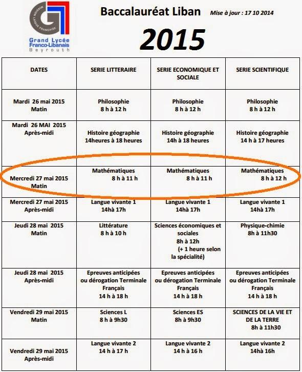 bac 2015 pondichery amerique du nord liban polynesie