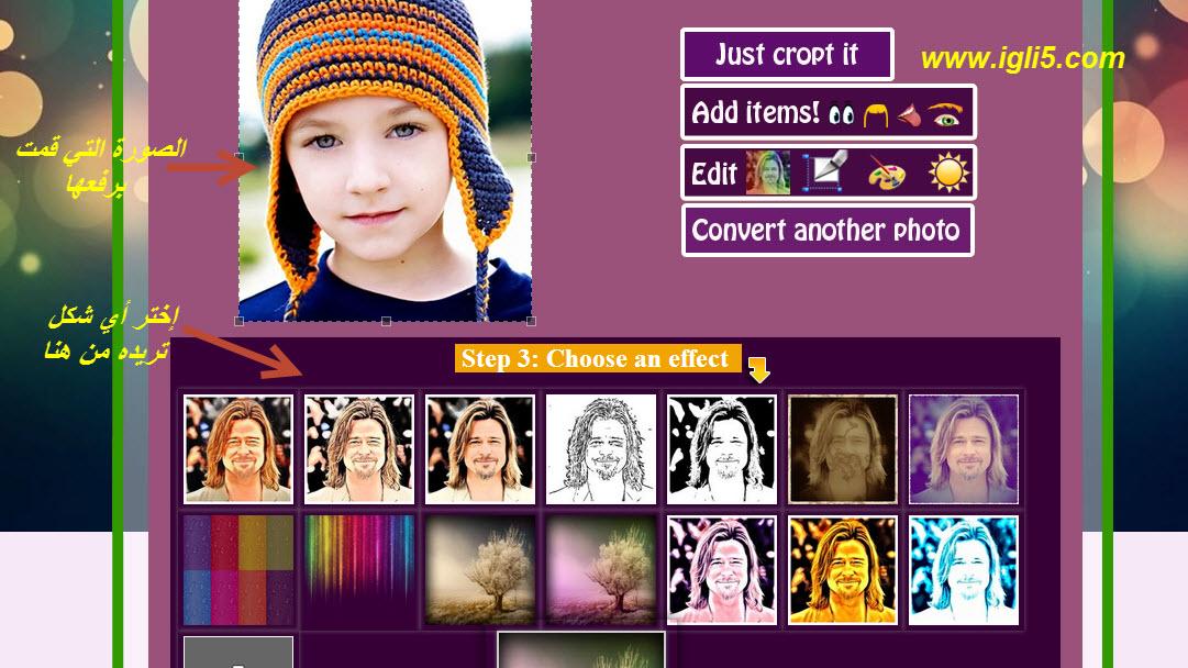 موقع لتحويل صورتك الشخصية صورة كرتونيه مرسومة باحتراف,بوابة 2013 2.jpg
