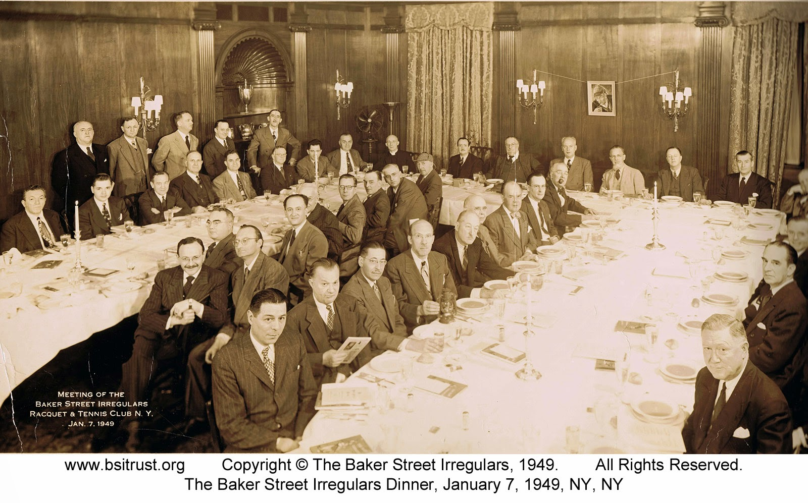 The 1949 BSI Dinner group photo