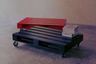 Mesa de centro feita de palete