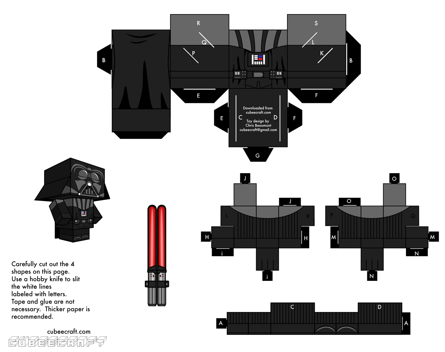 LEGO Star Wars Papercraft Templates