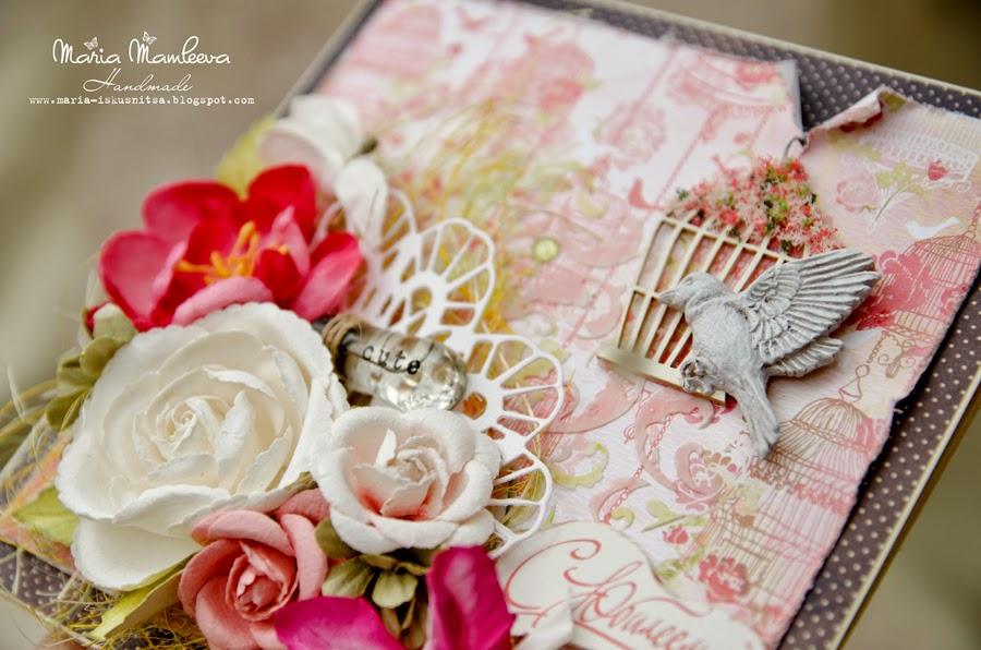 Открытка на рубиновую свадьбу скрапбукинг 26