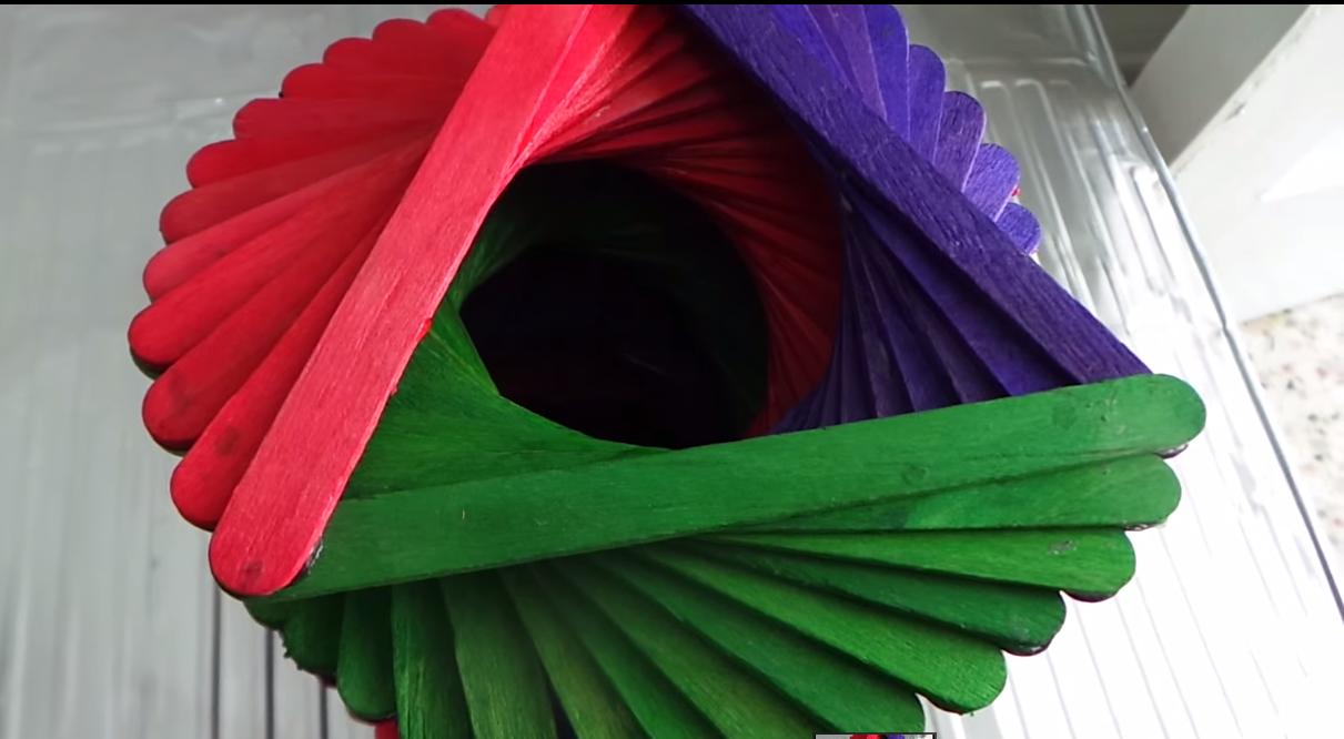 Simple Crafts Making Ice Cream Sticks Vase