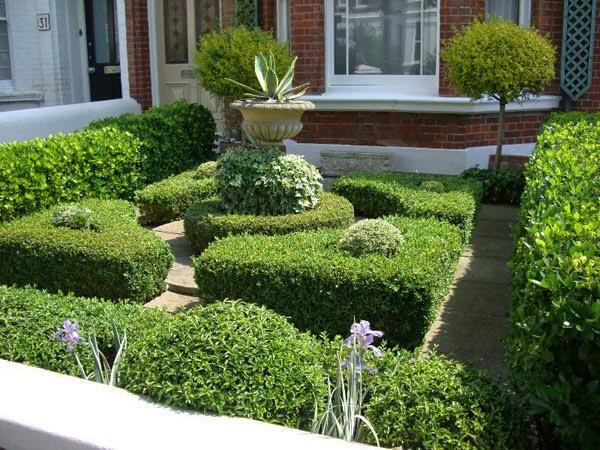 contoh halaman rumah yang asri dan sejuk desain denah