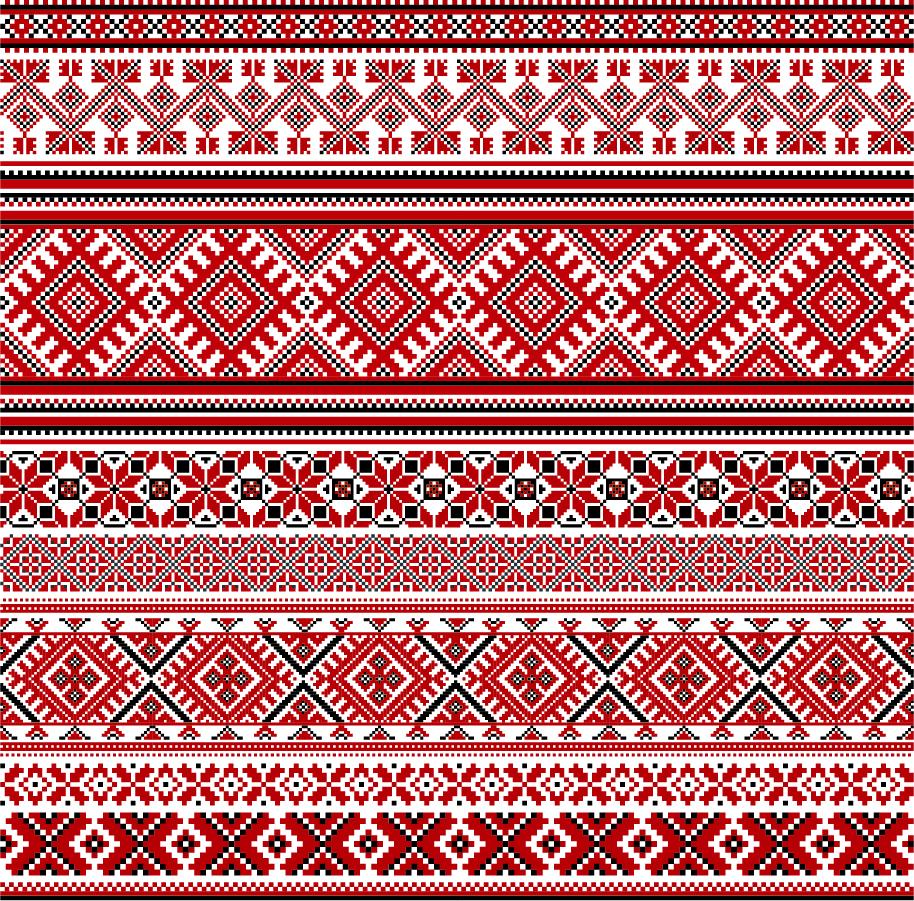 美しいクロスステッチのボーダー集 cross stitch patterns イラスト素材