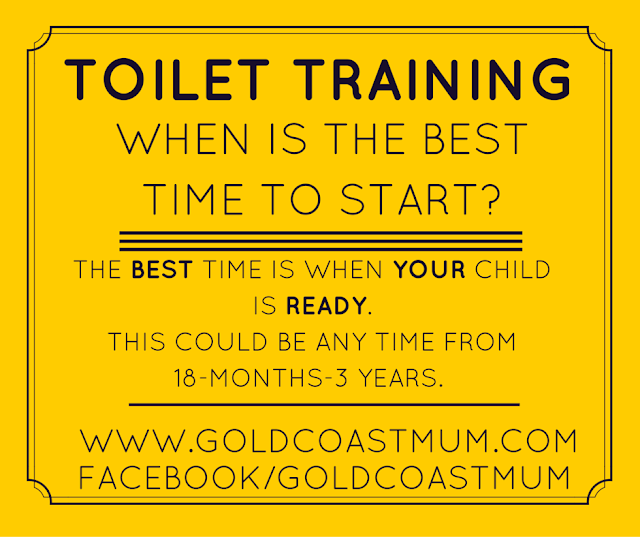 gold coast mum.com when is the best time to start toilet training