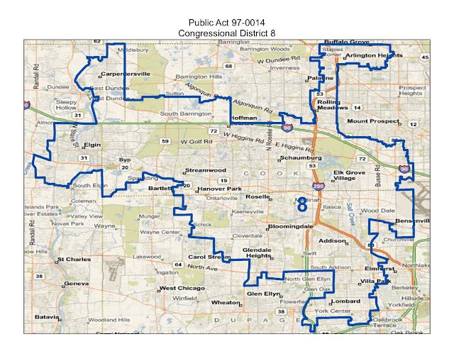 Will County Politics: Maps of Illinois Congressional ...