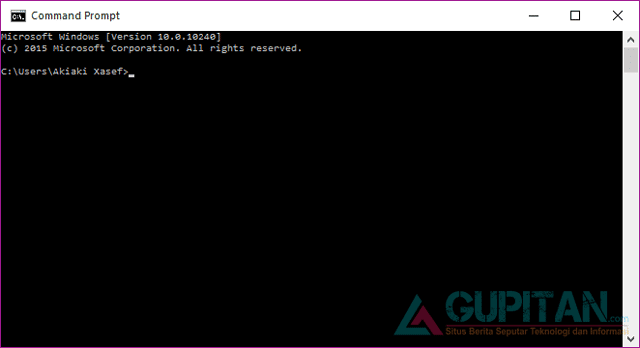 Cara Membuka Command Prompt (CMD) di Windows 10