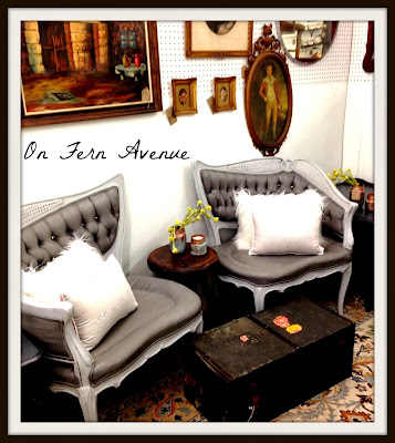 diy painted fabric French chairs tutorial