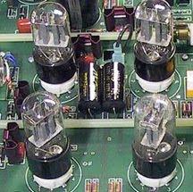 Four classic 6SN7 tubes