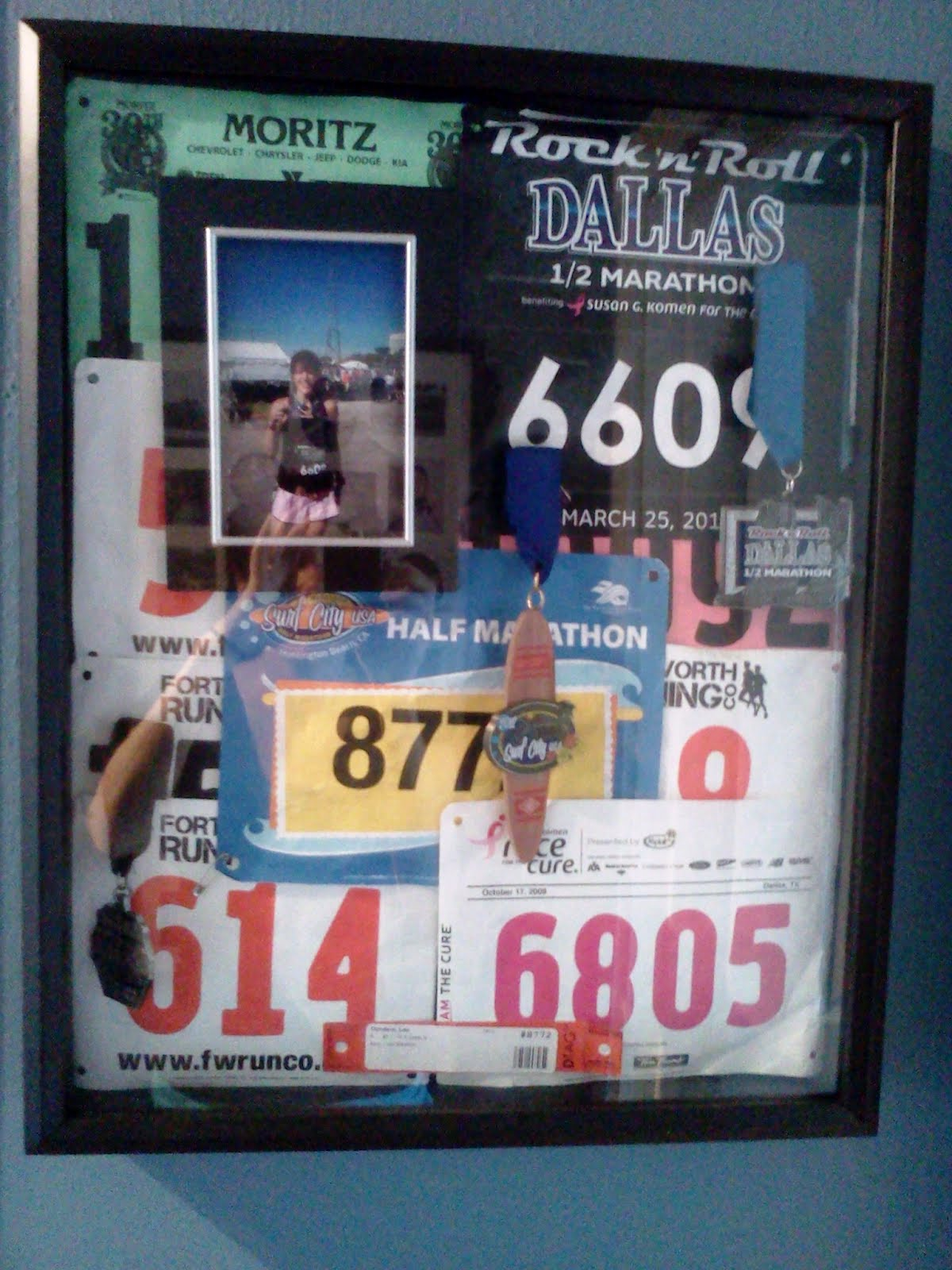 Race Medal Shadow Box Box With my New Race Medal