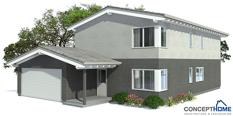 Contemporary house plans modern house plan to narrow lot