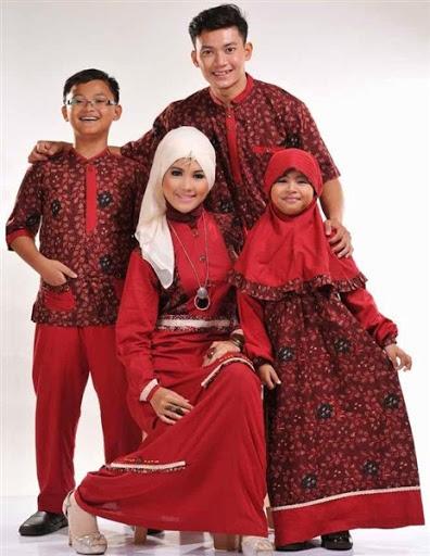 Trend model baju muslim batik sarimbit couple keluarga terbaru 2017/2018
