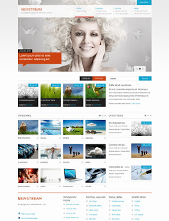 JB Newstream – July 2010 Joomla Template
