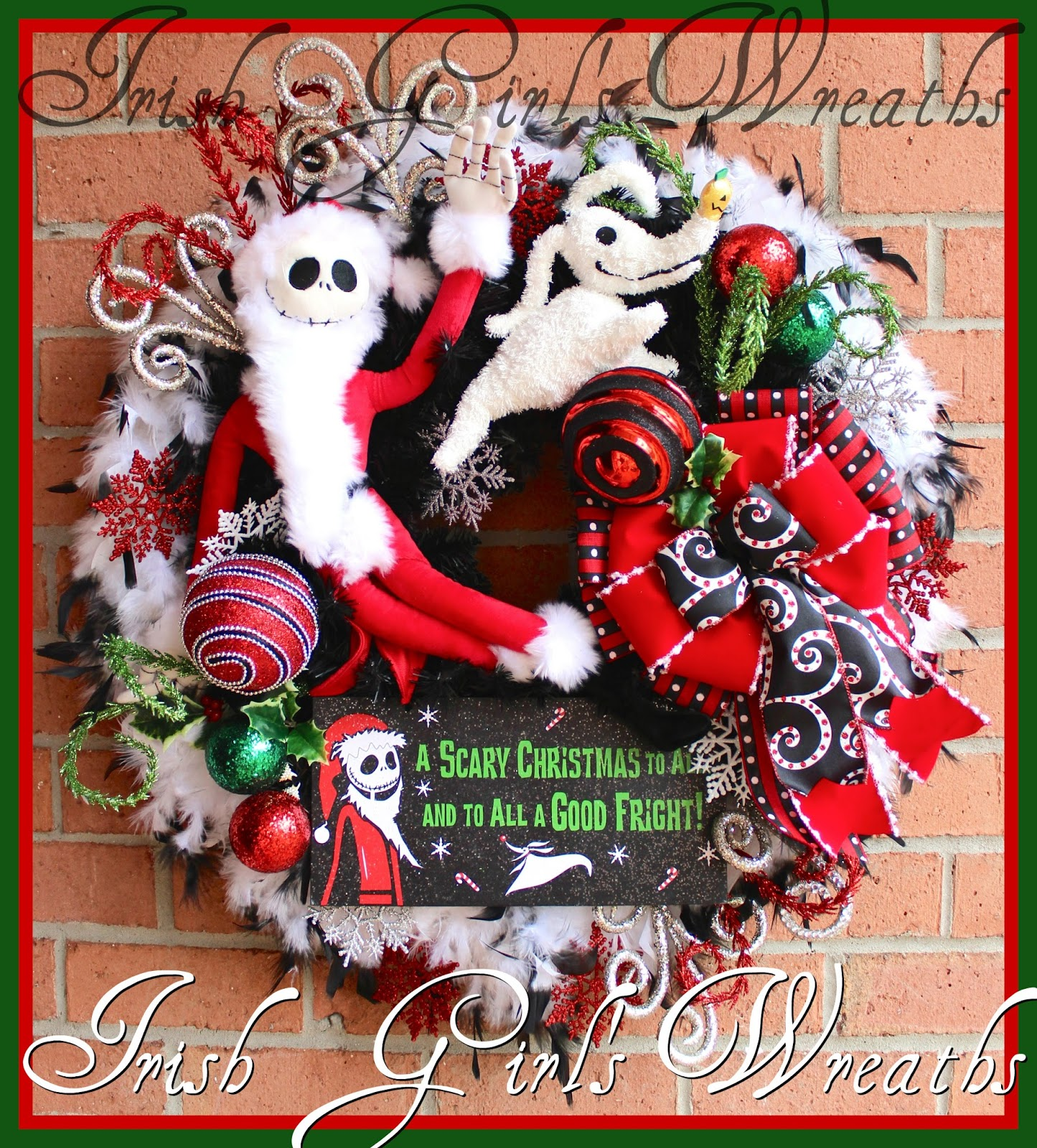Nightmare Before Christmas Wreath | www.topsimages.com