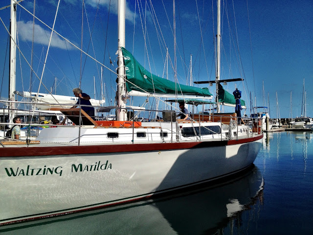 Waltzing Matilda in Airlie Beach marina