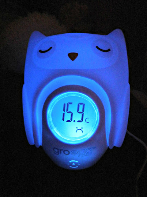 Gro-egg cold temperature thermometer room blue