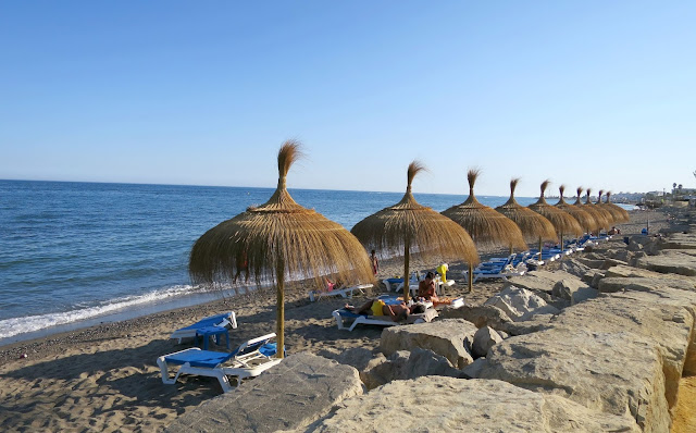 Marbella Spain Summer Holiday Sea View Sun Shade Bed Relax Beach