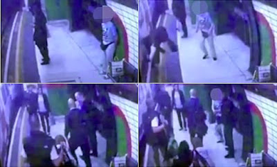 Screen caps of the shocking incident from the CCTV footage
