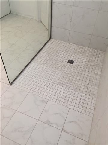 how to cut 2x2 shower floor tiles