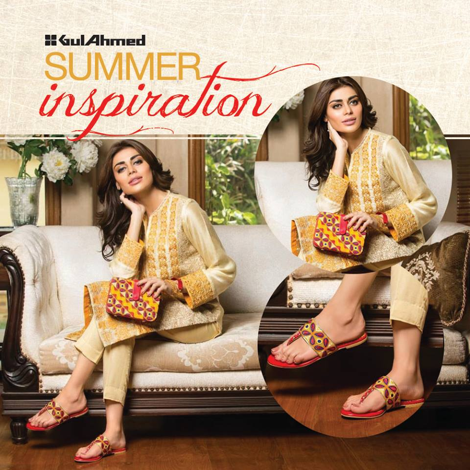 Pakistani girls outfit by Gul Ahmad