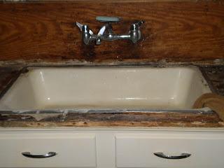 Catnip cottage 1930 february 2012 for Odd size kitchen sinks