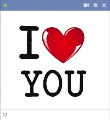 New Facebook Emoticon - I Love You