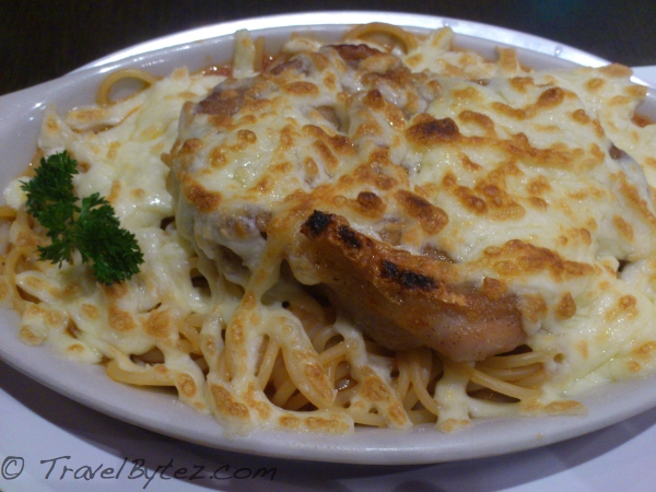 Cheese Baked Chicken Spaghetti