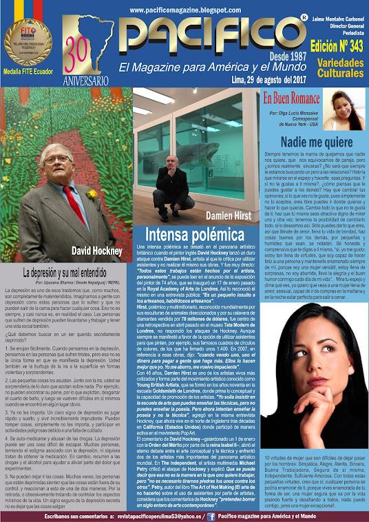 Revista Pacífico Nº 343 Variedades Culturales