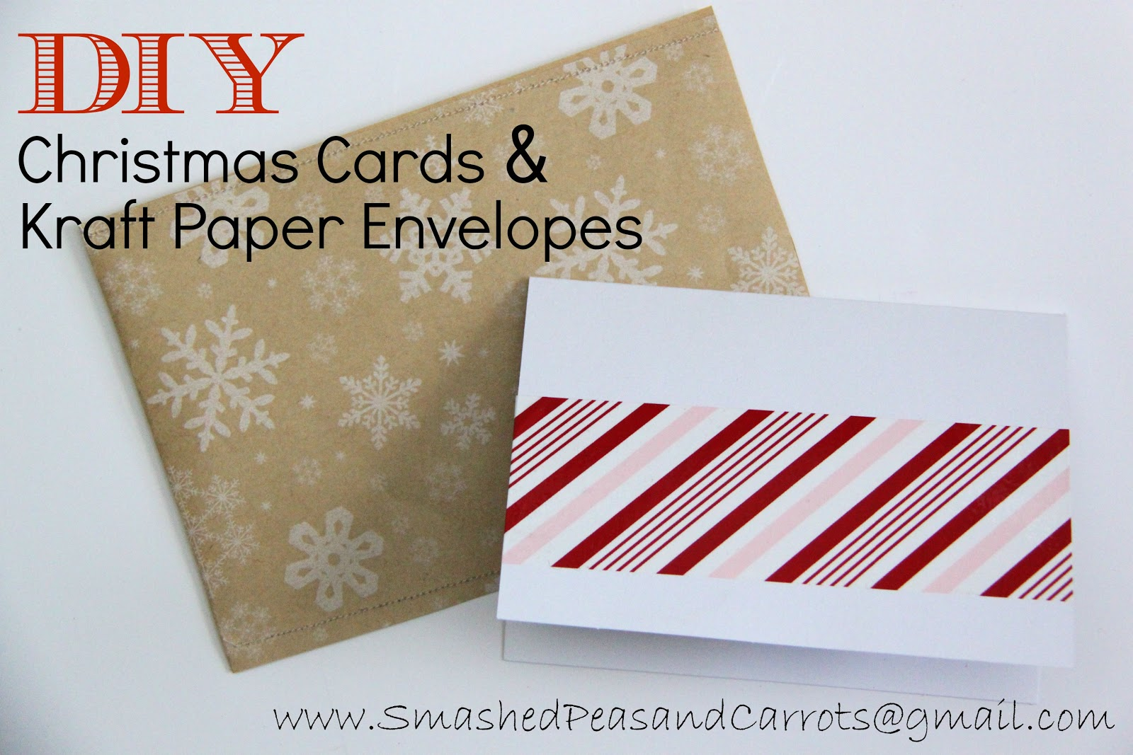 DIY Christmas Cards and Kraft Paper Envelopes-TUTORIAL - Smashed ...