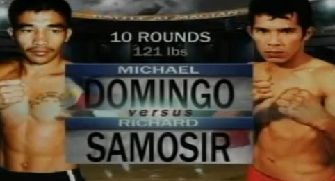 - MICHAEL DOMINGO VS RICHARD SAMOSIR- Pinoy Pride 7- July 31, 2011