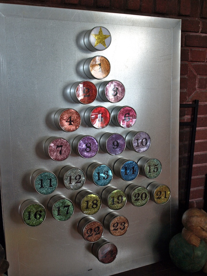 A Party Style Glitter Advent Calendar