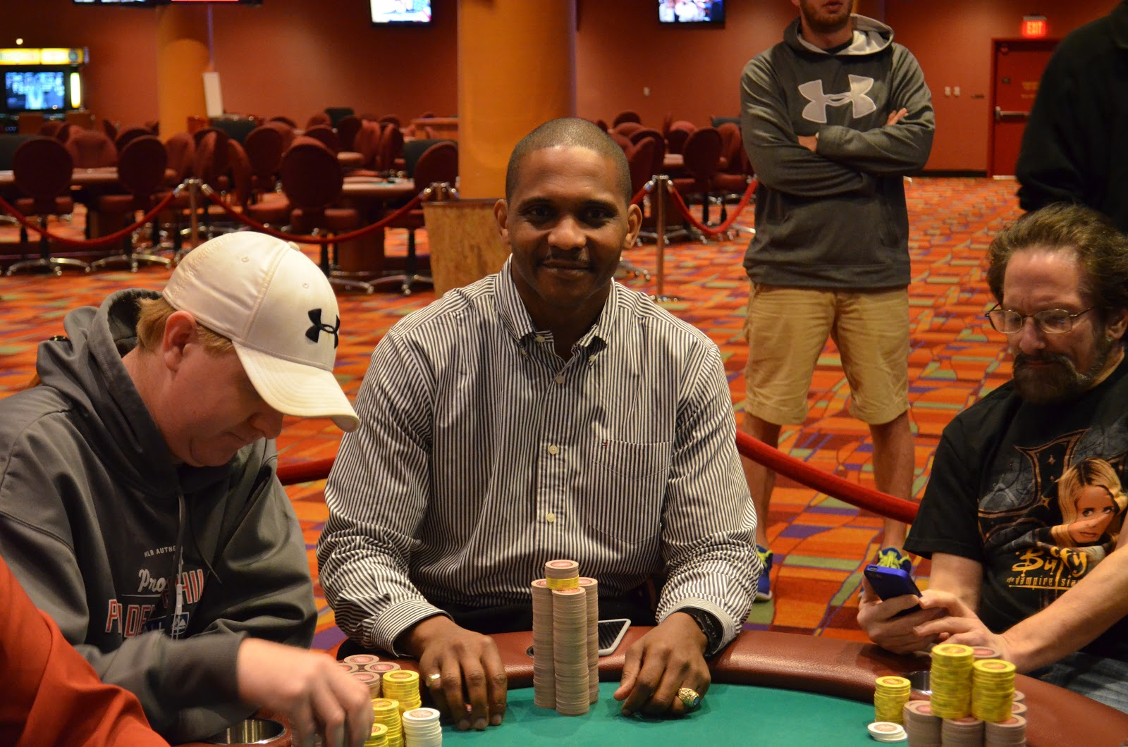Parxbigstaxii big stax 300 day 3 8th place walker 4 766 for Parx poker room live game report