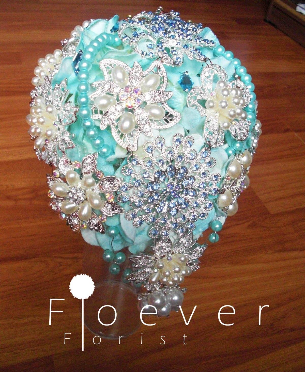 Floever Florist Tiffany Blue Jewel Bouquet