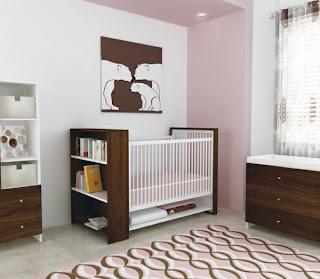 dormitorio de bebé chocolate rosa