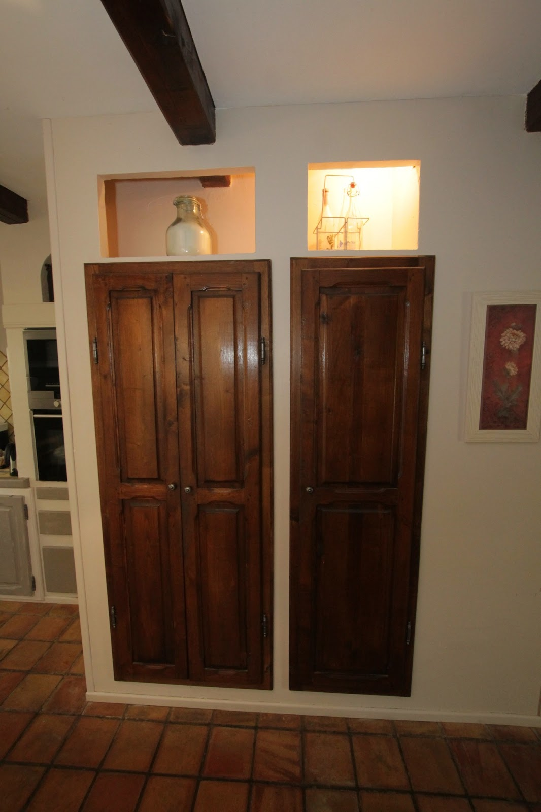 Changement de d cors la cuisine patine portes placards for Peinture placard cuisine
