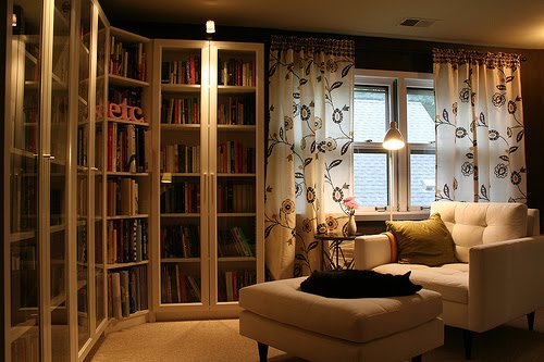 recessed or built in bookshelves can provide floor to ceiling storage and space savings you can also mount hanging bookshelves onto the wall or buy glass built home library