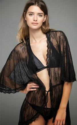 Women'secret lenceria colección Dark Seduction Elsa Pataky