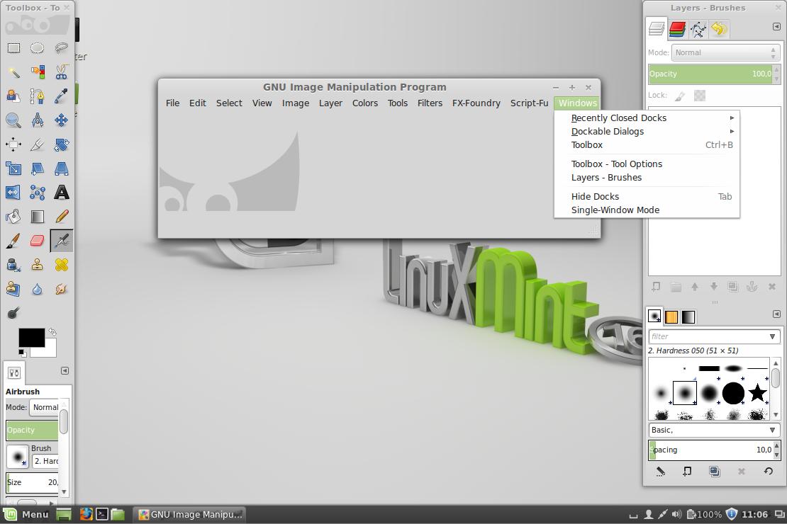 Linux Mint - GIMP