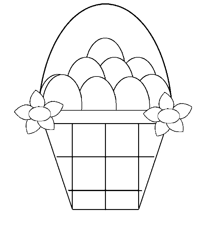 easter basket coloring pages online - photo#25