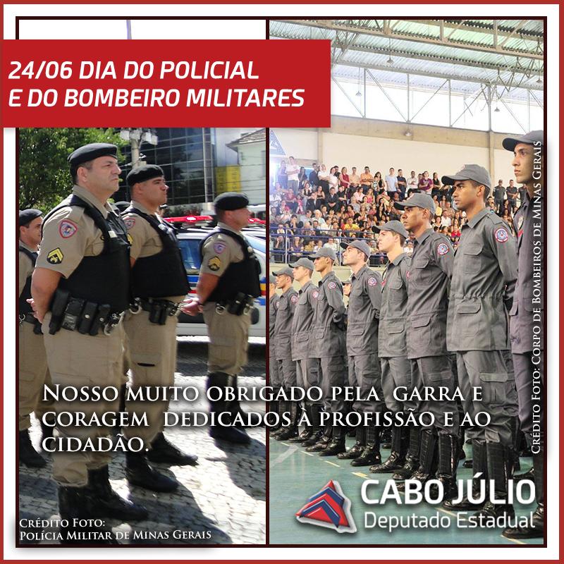 DIA DO POLICIAL E DO BOMBEIRO MILITARES