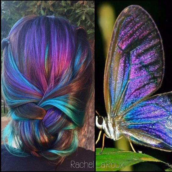 Trendy Oil Slick Coloring for Girls with Dark Hair! - OMG Love Beauty!