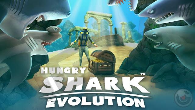 Hungry Shark Evolution v3.3.2 Apk + Datos SD Mod [Dinero ilimitado]