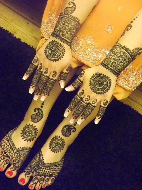 new mehndi design for bridal feet