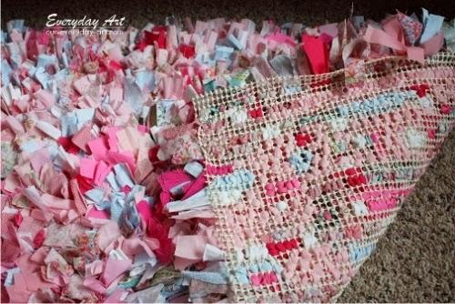 Mi rinc n de sue os alfombra con tela reciclada - Telas para alfombras ...
